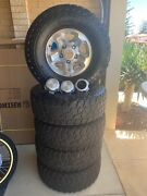 70/79 series Landcruiser GXL Rims and M.T ATZ off road tyres. Falcon Mandurah Area Preview