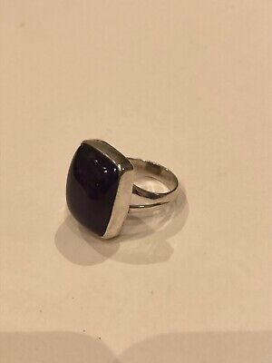 Sterling Silver Ring With Amethyst Stone, Size P