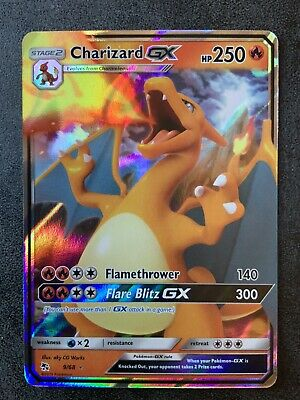 Pokemon CHARIZARD GX 9/68 Hidden Fates Ultra Rare NM/MINT