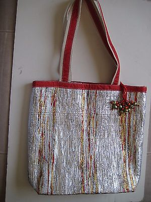 Multi-Color Silver Color Bases Beautiful Shopping Bag New