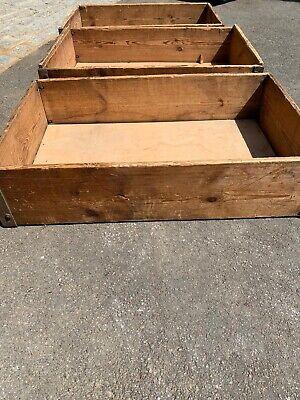 Vintage/ antique  Wooden Trays/storage X3 Possibly Jenson Parts Dept