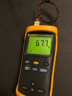 Fluke 51-2 Digital Thermometer With Thermal Couple
