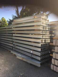 Retaining wall posts 150uc and 150pfc galvanised