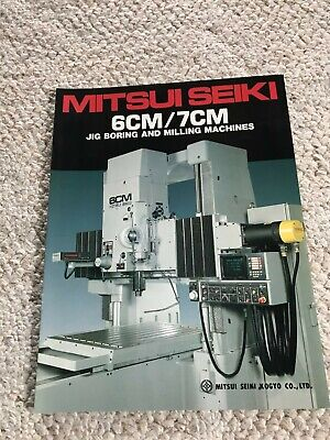 Mitsui Seiki 6cm7cm Jig Boring And Milling Machines Specification