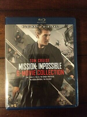 Mission: Impossible - 6 Movie Collection (Blu-ray) NEW