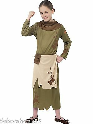 Girls Medieval Fancy Dress Costume Revolting Peasant Girl School History Outfit