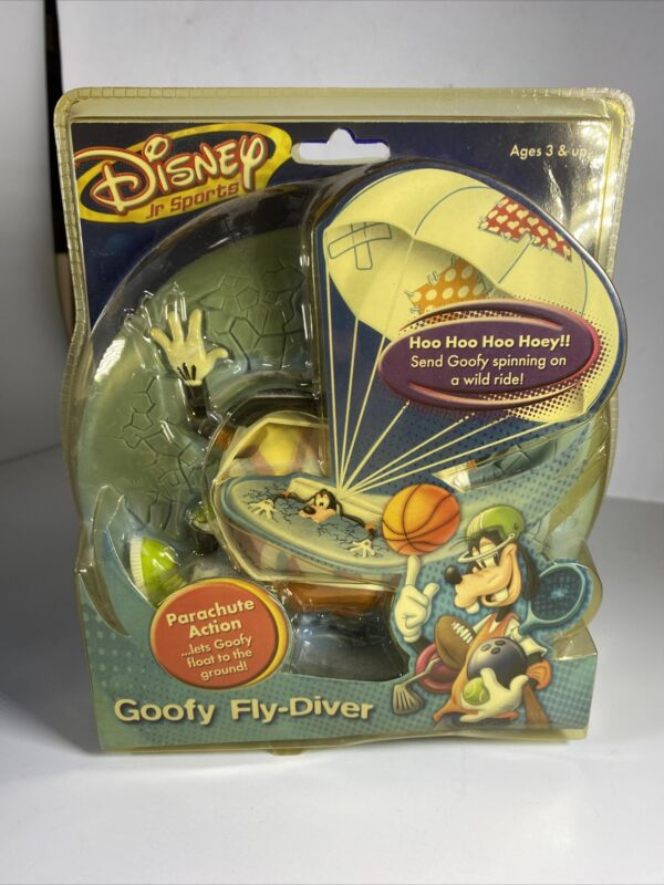 Disney Jr Sports Goofy Fly-Diver Parachute Action Ages 3+ Brand New In Package