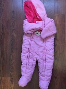 6-12m baby girl snow suit