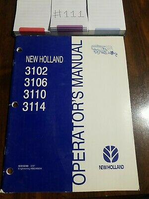 New Holland 3102 3106 3110 3114 Manure Spreader Operators Manual