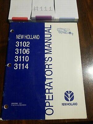 New Holland 3102 3106 3110 3114 Manure Spreader Operators Manual