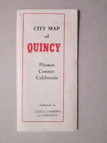Vintage City Map of Quincy Plumas County California