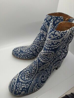 Indigo rd Boots Blue And White Tapestry Size 10 M Women's Ankle Boots