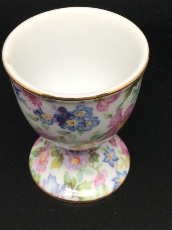 Chintz eggcup vintage