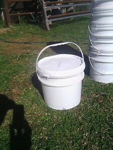 Plastic buckets with lids Somerset Area Preview