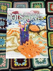 CROCHET-PATTERN-BOOK-101-Granny-Squares-Yarn-Wool-Craft-Darla-Sims