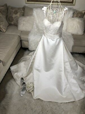 Used, La Sposa  Princess Wedding Dress Sleeves Size 12 for sale  Alvin
