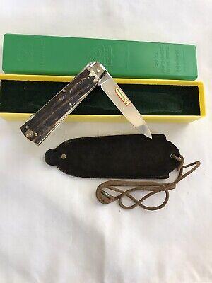 PUMA KNIFE # 941 PUMA-JAGDMESSER HANDMADE GERMANY SAMBAR STAG HANDLES-MINT-1988
