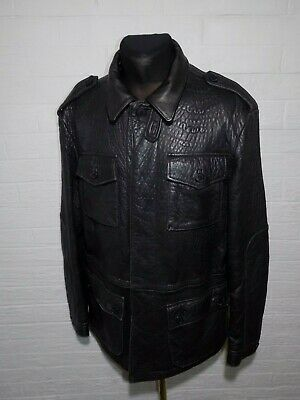 Men's VERSACE JEANS COUTURE Leather Jacket Size XL