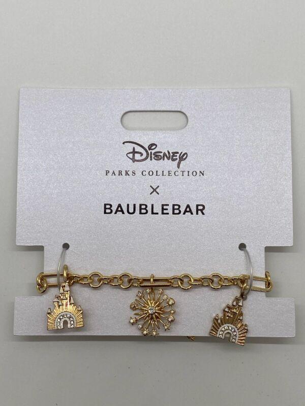 Disney Parks Collection x Baublebar WDW 50th Celebration Charm Bracelet NWT