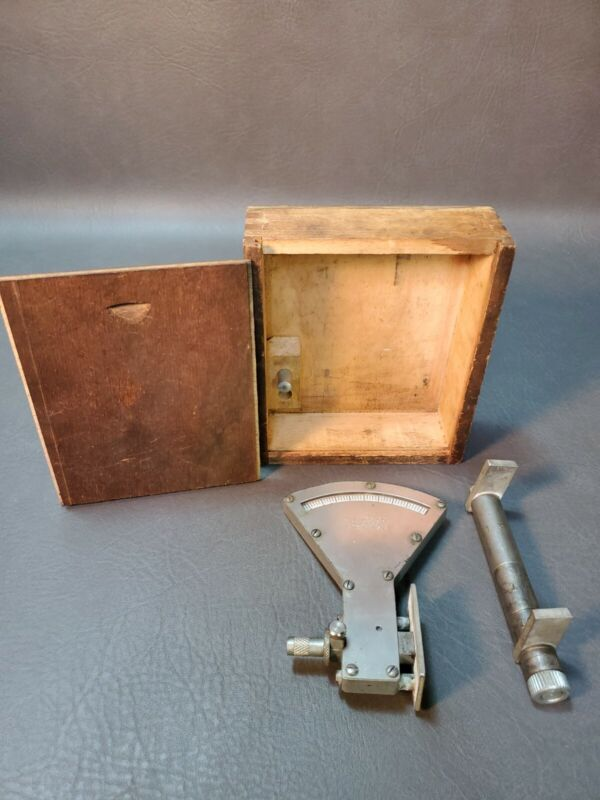 Vintage ZIM MFG Co Cylinder Gauge w/Wood Box Chicago Made in U.S.A.