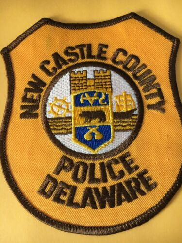New Castle County Delaware Police Patch Vintage