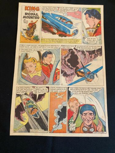 #02  KING OF THE ROYAL MOUNTED by Zane Gray Sunday Tab Full Page Strip 1945