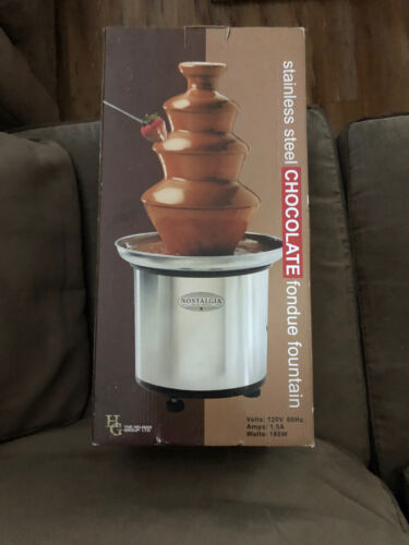 4 Tier Nostalgia Electric 2 lb Chocolate Fountain