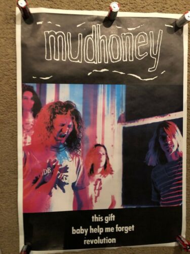 "MUD HONEY THIS GIFT 7"" PROMO POSTER SUB POP 1989 NICE SHAPE"