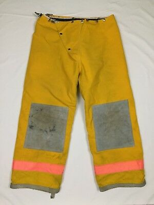 Express - Yellow Firefighter Nomex Thermal Lined Protective Turnout Pants Sz 36