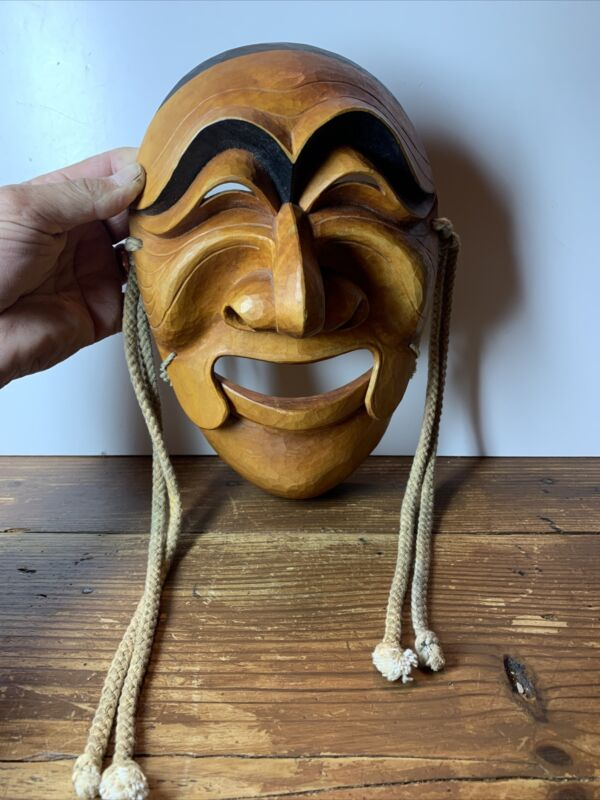korean hand carved hahoe theater mask.