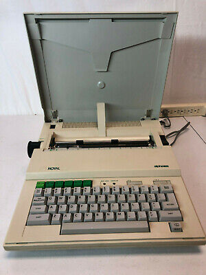 Royal Electronic Typewriter Alpha 101 Portable Made In Japan Tested Great Shape