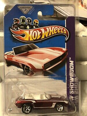 Hot Wheels 2013 SUPER TREASURE HUNT HW Garage '69 Camaro Convertible Red