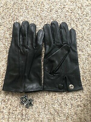 Men's Dress Black leather Gloves  Size Medium ()