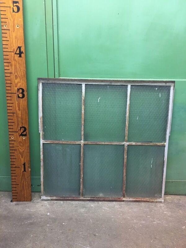 Beautiful Steel Industrial Casement Factory Window Chicken Wire Glass 6 pane