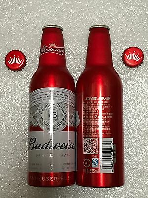 "China Budweiser Beer ""New Logo"" 355ml Empty Aluminum Bottle"