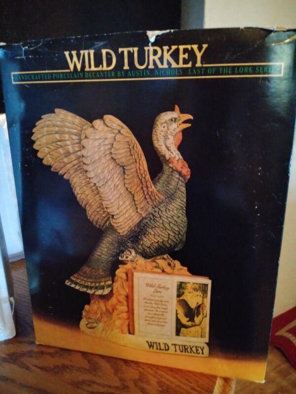 wild turkey series II No.4 1982 last of the lore series, NIB (empty)