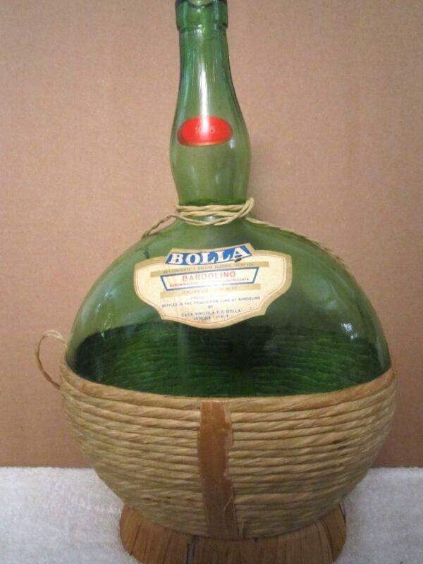 Vintage 1975 Bolla Bardolino Verona Italy Green Glass Wine Bottle