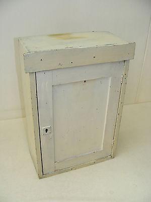 Beautiful Little Old Wall Cabinet, Art Nouveau White
