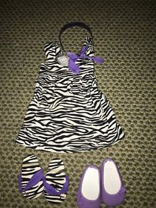 American Girl Doll Stripped Outfit