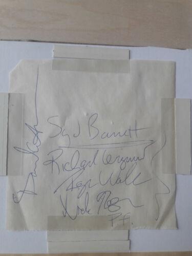 Pink Floyd FULL Signature Set 100% Original W/ Syd Barrett & David Gilmour 1968