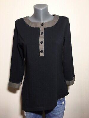 IVAN GRUNDAHL Copenhagen Black Asymmetric Blouse , Size:XL