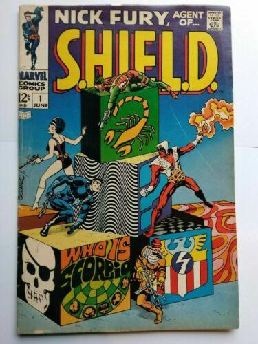 Nick Fury, Agent of S.H.I.E.L.D. #1, VG/FN 5.0, 1st Appearance Scorpio