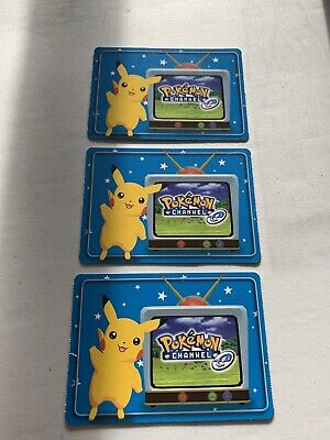 Very Rare 2003 Pokemon Channel E Reader Promo Pack Of 3 Cards Pikachu GameCube