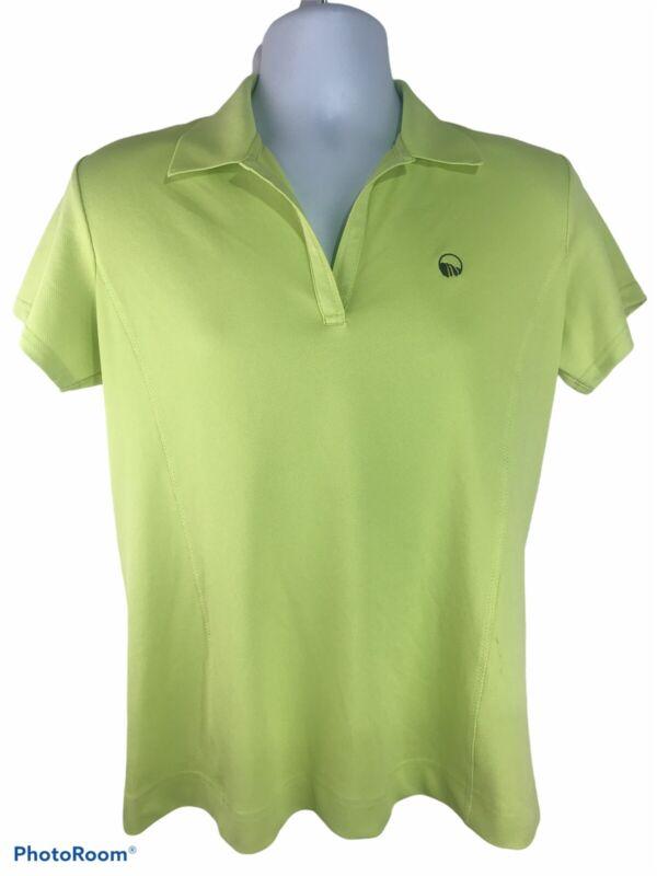 NWT Sport Haley Women's Large Green Short Sleeve Polo Style Shirt