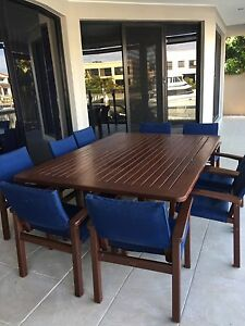 Outdoor dining table and chairs Paradise Point Gold Coast North Preview