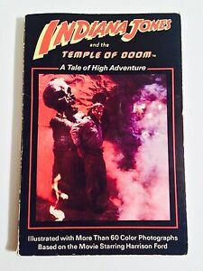 INDIANA JONES AND THE TEMPLE OF DOOM BOOK PAPERBACK (1984)