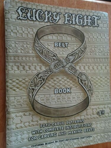 Lucky Eight Belt Book Leather Carving Patterns