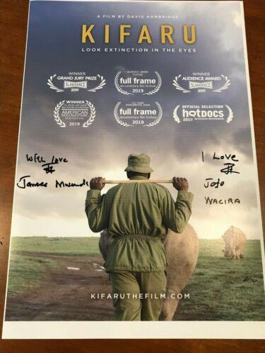 """Kifaru"" signed movie poster wildlife conservation rhinoceros white rhino"