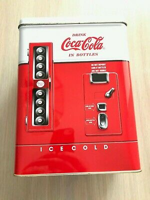 COCA-COLA Coke Bottle Vending Machine Vintage 1997 Collectible Tin Box FREE SHIP