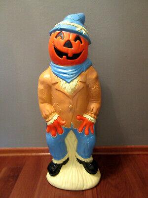 "Vtg ""Empire"" Lighted Scarecrow Pumpkin Head Halloween Blow Mold- 34"" Tall -NICE!"